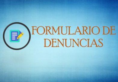 FORMULARIO DE DENUNCIAS