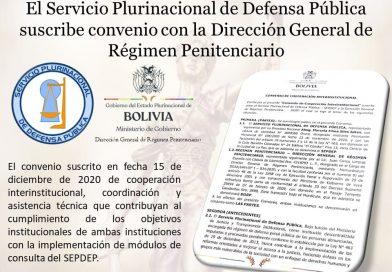 CONVENIO CON LA DIRECCIÓN GENERAL DE RÉGIMEN PENITENCIARIO